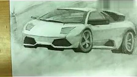 大可乐素描教程之兰博基尼3  汽车