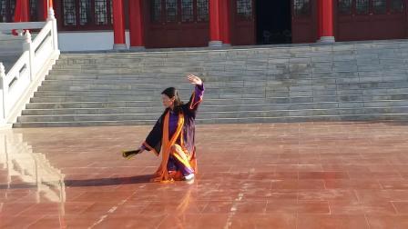 静宁县太极拳协会副主席张宁霞__云水太极扇演练