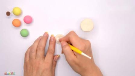 儿童早教益智玩具,培乐多彩泥做樱桃冰淇淋模型