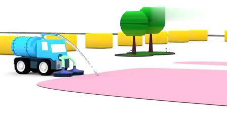 儿童消防车迷你卡车小汽车给消防车找配件搞笑动画!