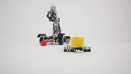 清远宇舵编程教育机器人培训课程视觉工程车吊车项目展示