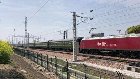 K254次通过沪昆线沪杭段K181+911KM处乔司机务段旁 HXD1D0236
