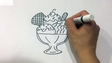 如何为儿童画彩色冰淇淋彩页艺术色彩