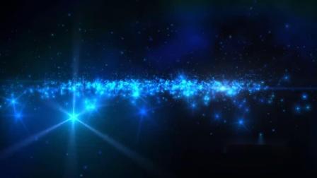 s110 2K画质蓝色光效粒子穿梭科技3D三维空间商务动态背景视频素材唯美动态视频