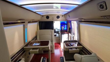 带卫生间和床的8座改装丰田考斯特才是商务旅行的正确打开方式--中鼎盛世汽车