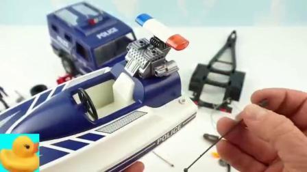卡通益智积木零件组装小汽车和轮船玩具