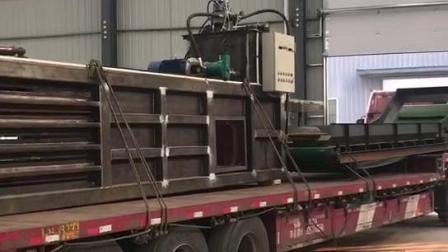 全自动液压废钢龙门剪切机源通龙门剪铁机发货现场