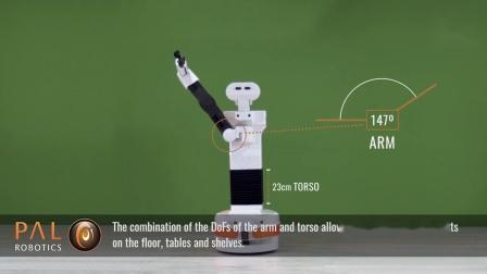 Pal-Tiago-工作范围演示Robot Workspace versatility