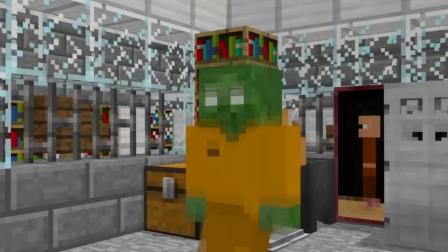 我的世界动画-怪物学院-丧尸的班房挑战-MineGirlZ