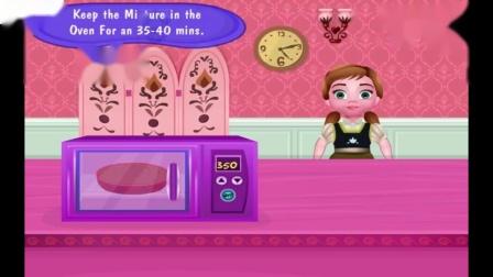 冷冻安娜胡萝卜芒果蛋糕小公主女孩游戏