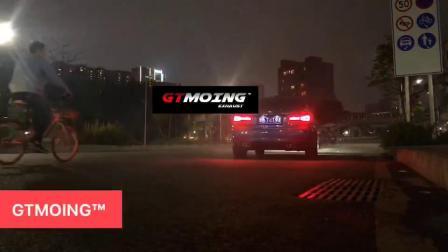 宝马3系320Li升级GTMOING改装中尾段双阀门排气管阀门打开静止起步加速声浪效果