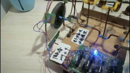 自制电子四缸发动机模型  测试视频
