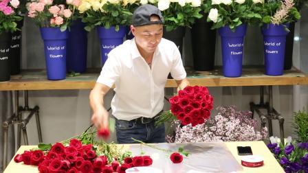 99朵玫瑰花束教程视频