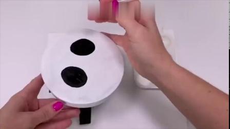 「迷你家具DIY」自己动手给芭比娃娃做迷你熊猫凳,非常可爱!