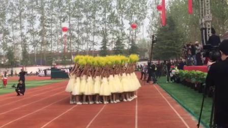 临沂湖南崖小学方队在罗庄区25届体育节精彩表演2019.4