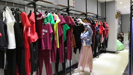 【香依倩颖】19夏运动套装品牌折扣尾货批发一手货源