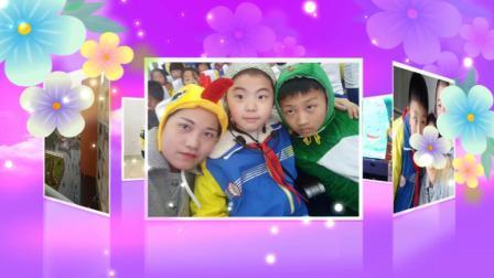 南湖小学亲子故事比赛《坐井观天》表演者二(16)班、李浩轩、刘子嫣同学、李书嫒母子