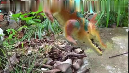 变形汽车帮恐龙找翅膀和尾巴,婴幼儿宝宝过家家游戏玩具视频