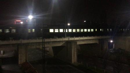 沪昆绕行线 K1438次通过萧山西站后开始加速,直进侧出限速45