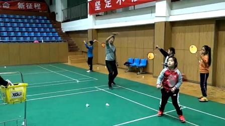 XGB-西游记徒弟7岁小雯熊式反手高远球训练