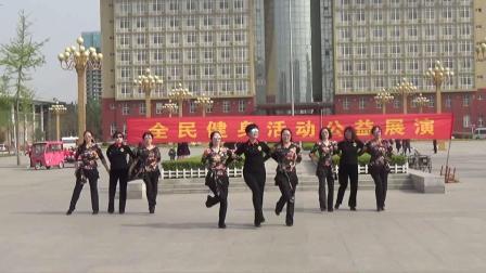 菏泽市快乐舞步健身操协会 全民健身公益演出 圆玉水兵舞队《溜溜的山寨溜溜的醉》