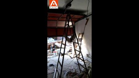 翻板车库门用户安装案例  锐玛电机AAVAQ