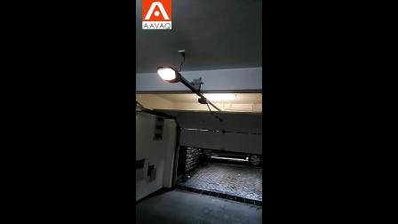 翻板车库门彩钢板门用户安装案例   锐玛电机AAVAQ