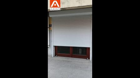 车库卷帘门管状电机卷闸门开门机安装效果案例 锐玛电机AAVAQ