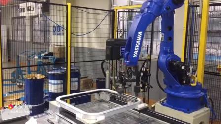 机器人自动涂胶站