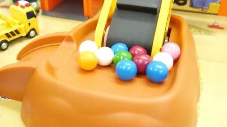 汽车玩具视频 工程车 推土机 挖掘机 铲车 卡车 装载机 吊机61