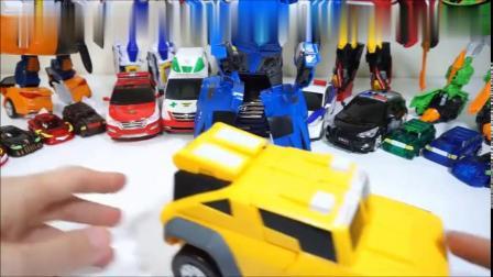 工程车越野车小汽车玩具组装机器人