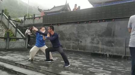 传统杨氏太极推手对练
