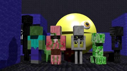 我的世界动画-怪物学院-豆人挑战-rusplaying