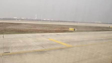 厦门航空杭州到武汉武汉天河机场降落