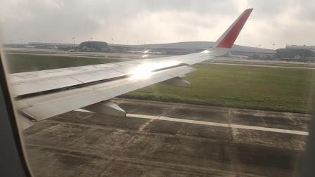 四川航空南宁到杭州南宁吴圩机场起飞