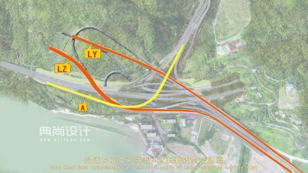 盐港东立交05加标 深圳道路三维动画 道路景观动画