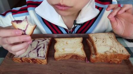 喜茶的咸蛋黄切片面包真的好吃!还有咸蛋黄流沙牛角包、紫薯切片、黑糖切片 - 原速