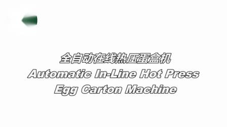 HGHY全自动在线热压蛋盒机生产线蛋盒设备