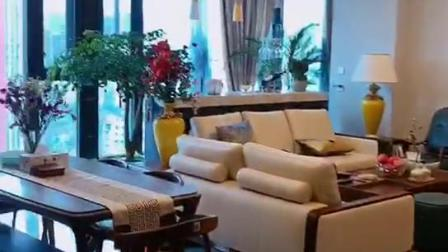 成都华森装饰全案设计作品|雍锦阁180平四居室新中式风格装修案例