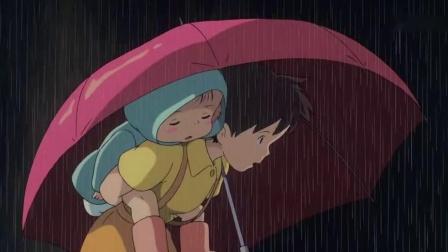 龙猫 大雨天小梅在站台偶遇大龙猫, 原来龙猫也会搭公交! 好萌啊-_高清