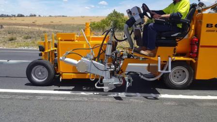 BM 3000型划线机澳大利亚堪培拉热熔边线施工