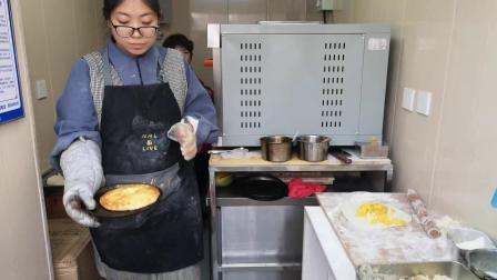 天津网红店丘比特榴莲芝士饼