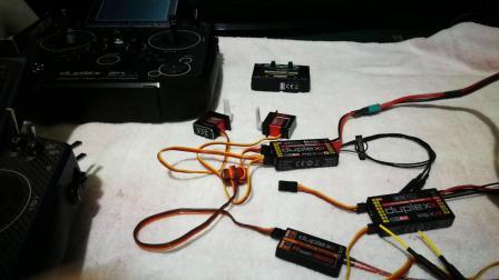 JETI DS-24双接收+900MHz备份接收接线设置
