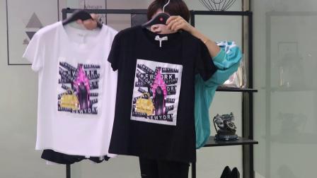 (已清)丫丫女装新款莫代尔棉工艺T恤20元/件(25件一份500元不包邮)