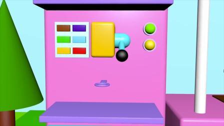 趣味食玩:小正太卖冰淇淋玩具儿童学习颜色早教动画
