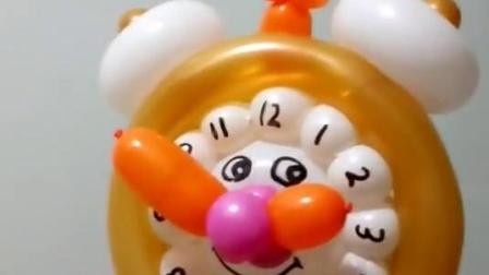 气球艺术——长条气球编织闹钟