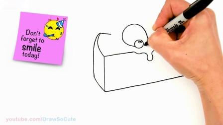 如何画一块芝士蛋糕切片既简单又可爱