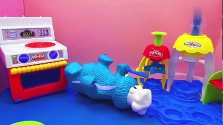 做抹茶蛋糕给甜饼怪吃的玩具故事,超有趣!