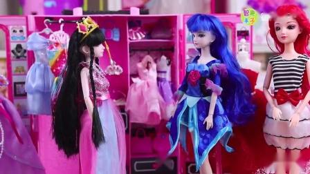 叶罗丽仙子逛街买衣服参加黑香菱聚会芭比娃娃玩具故事