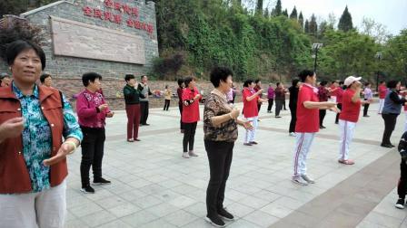 拍打经络健身操,恒大绿洲对过文昌公园快乐健身20190422